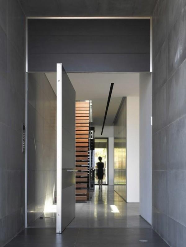 metall tür moderne fassadengestaltung