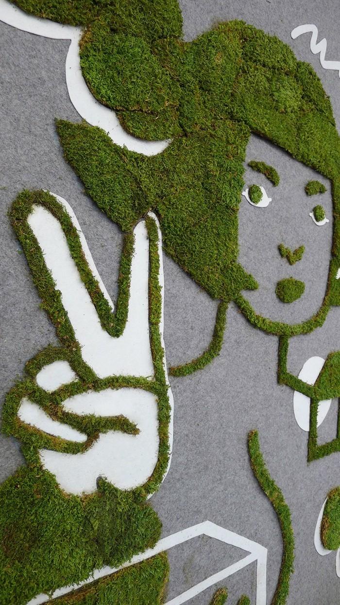 mit moos dekorieren fruelingsdeko naturmaterialien anime gestalten mit moos