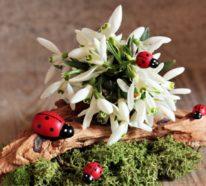 Frühlingsdeko Ideen mit Naturmaterialien- Gestalten mit Moos