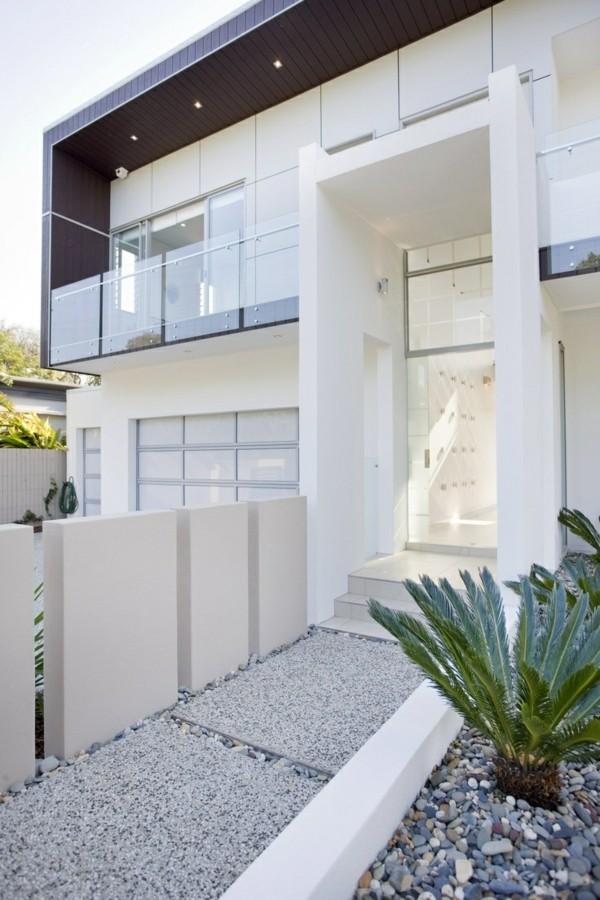 moderne fassadengestaltung weiße fassade