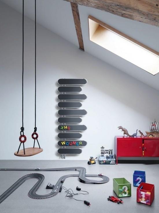 moderne heizköper kinderzimmer kreative idee wandhalterung