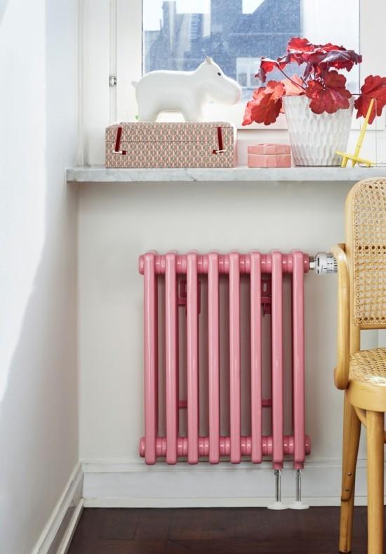 moderne heizköper retro rosa wandhalterung