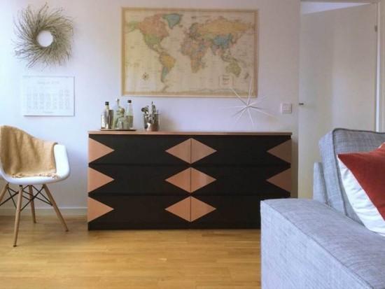 moderne kommode schön dekoriert wohnbereich stauraum