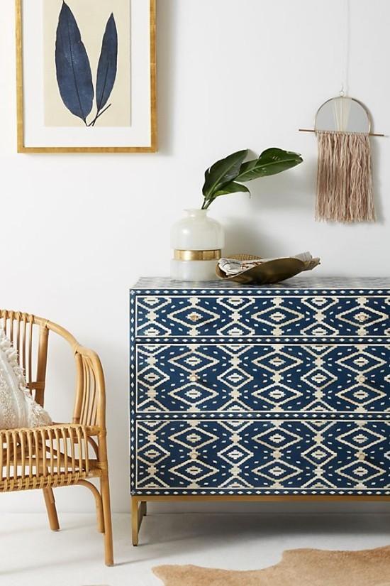 moderne kommode schubladen schön dekoriert