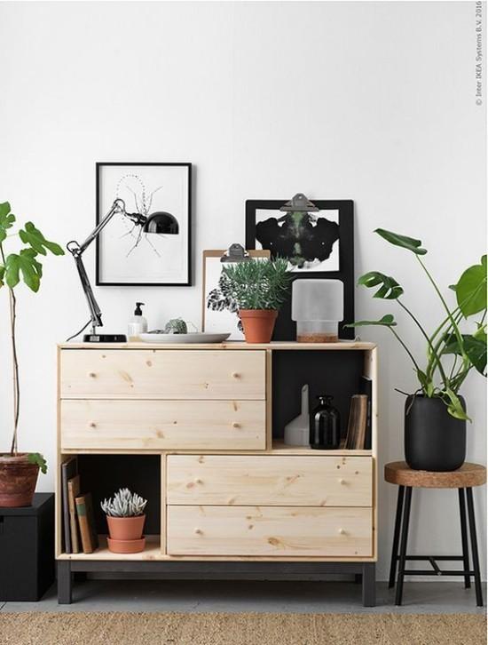 moderne kommode wohnzimmer schiebetüren