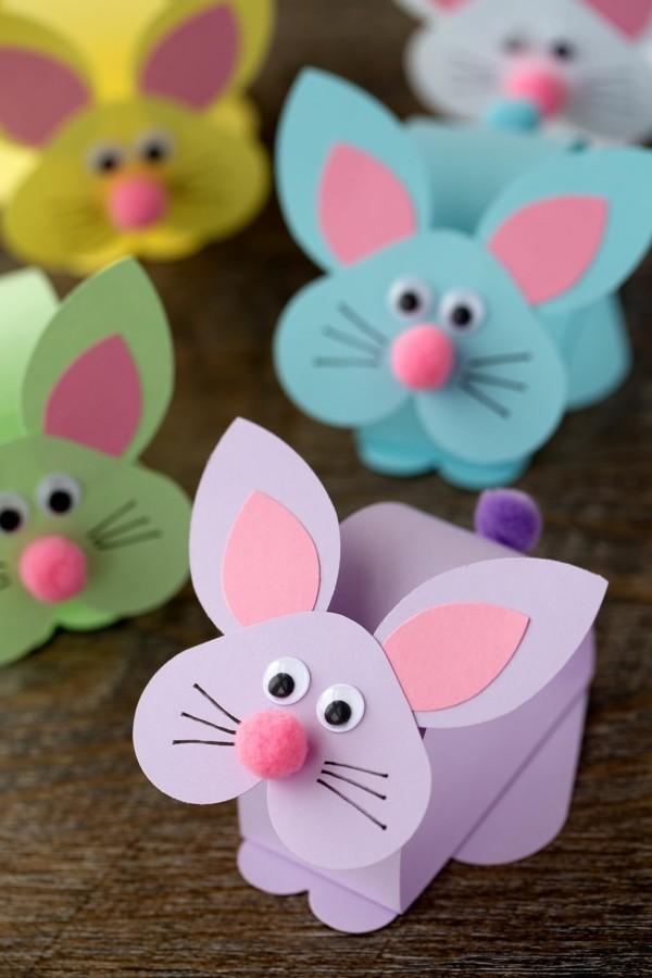 osterbasteln mit papier basteln mit kindern osterhasen origami