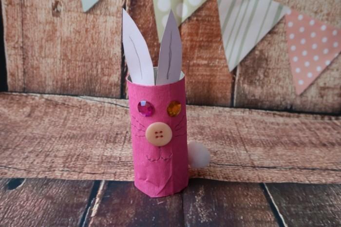 osterdeko selber machen basteln mit klopapierrollen basteln mit kindern