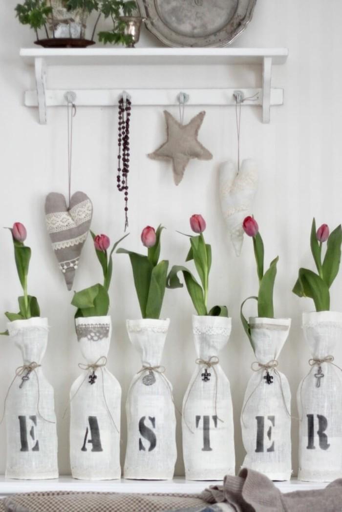 osterdekoration basteln kreative osterdeko tulpen