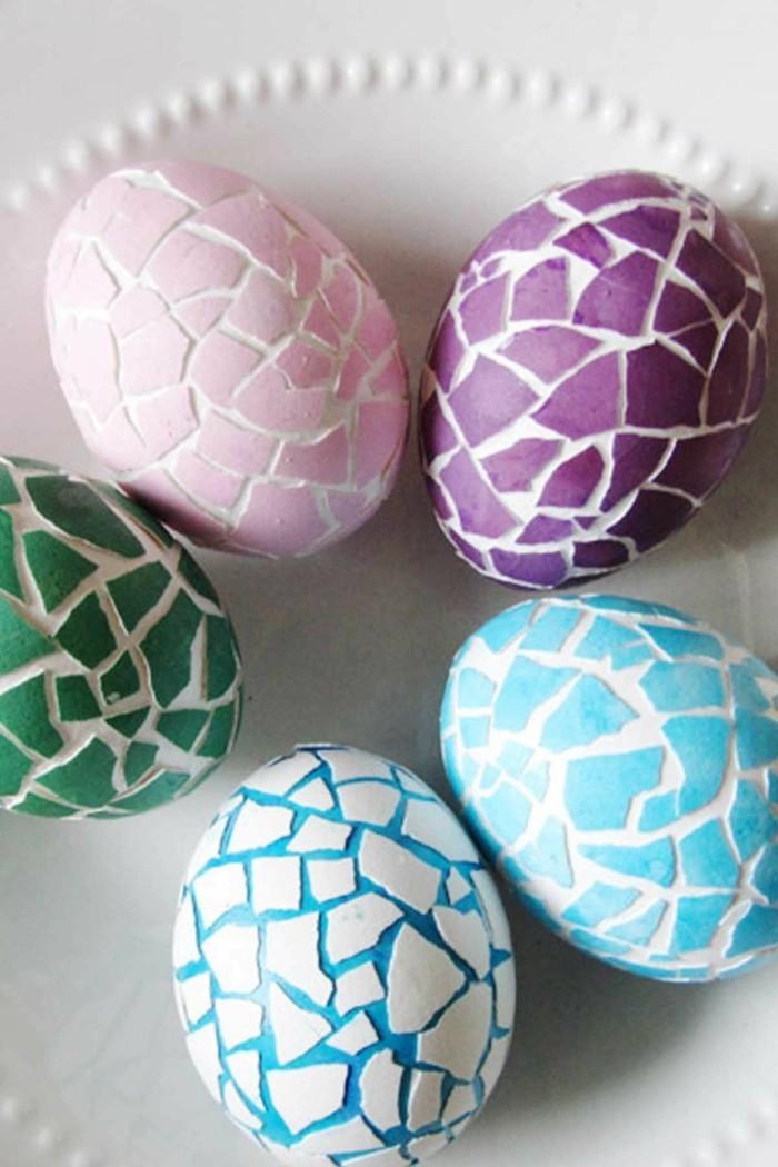 ostereier bemalen ostereier dekorieren osterdeko selber machen effekt