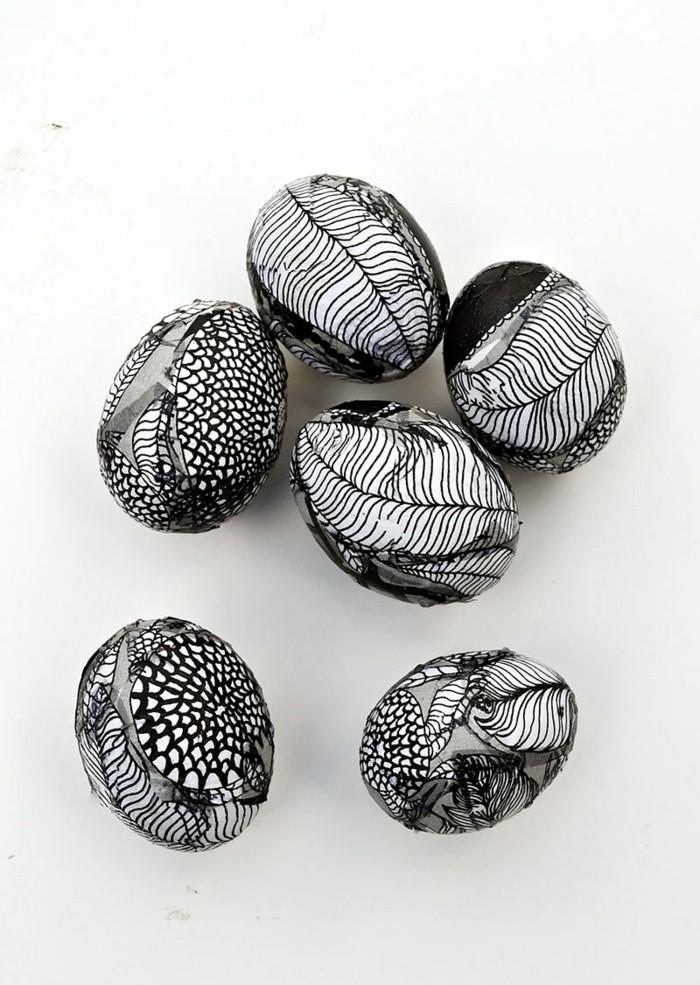 ostereier bemalen ostereier dekorieren osterdeko selber machen grafische