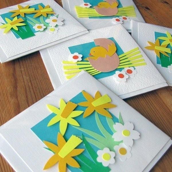 osterkarten basteln osterbasteln mit papier ideen