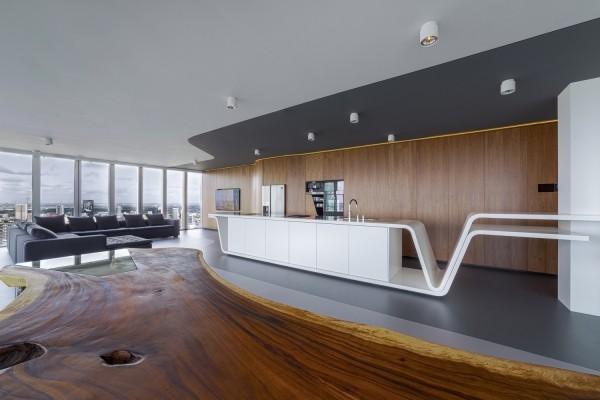penthouse futuristische inneneinrichtung