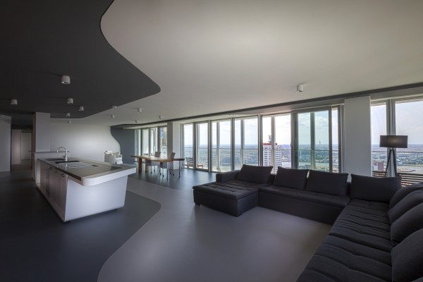 Moderne Architektur: Penthouse-Apartment in Rotterdam