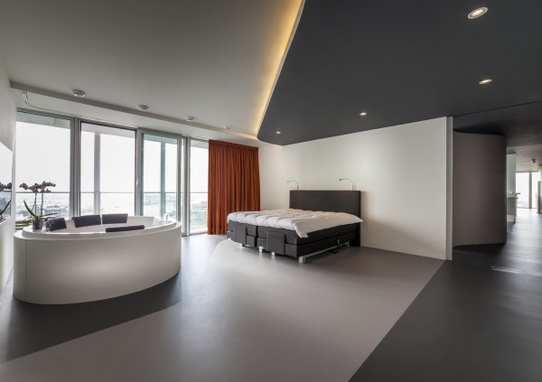 penthouse helles schlafzimmer