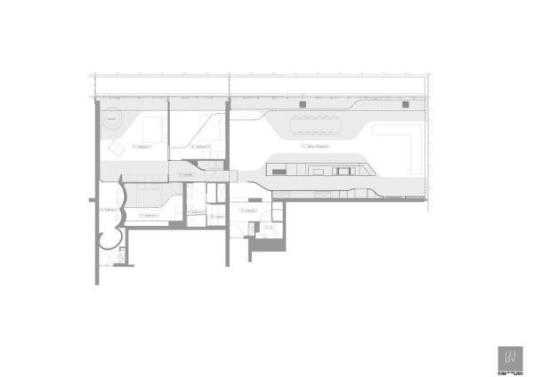 penthouse wohnplan ideen