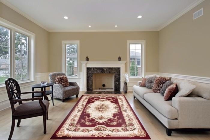 perserteppiche stilvolles wohnzimmer helle wohnzimmermöbel