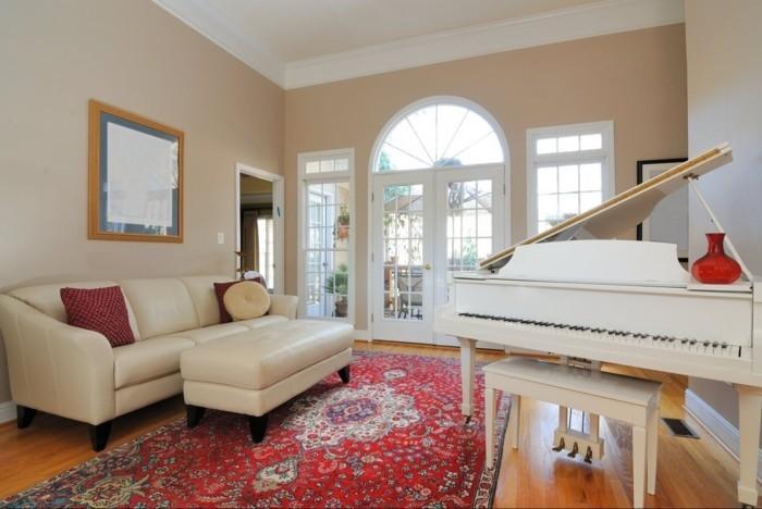 perserteppiche wohnzimmer klavier helles mobiliar