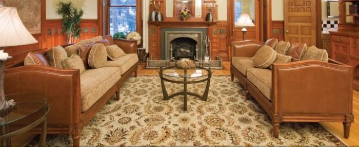 perserteppiche wohnzimmer teppich florale muster