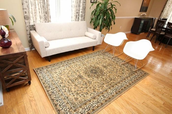 perserteppiche wohnzimmer vintage schaukelstühle