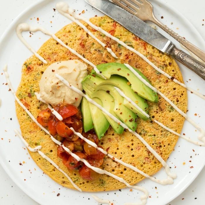 pfannkuchen aus kichererbsen veganes frühstück ideen