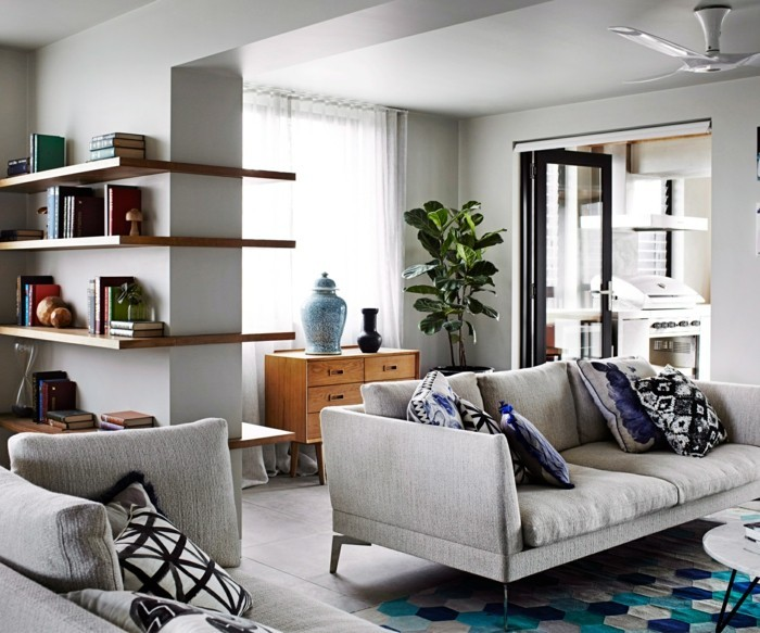 pflanze mit großen blättern stilvolle dekoideen wohnzimmer