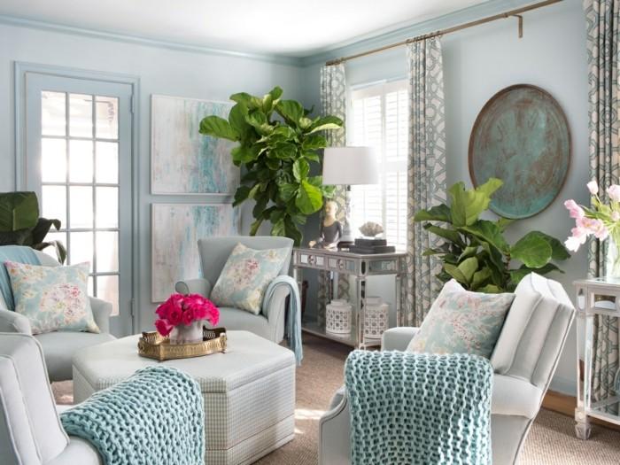 pflanze mit großen blättern symetrische dekoideen wohnzimmer