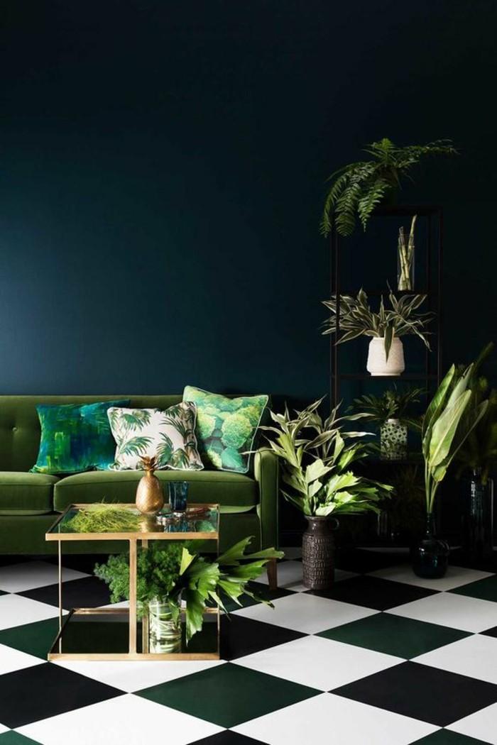 pflanze mit großen blättern wohnzimmer dekorieren viele zimmerpflanzen