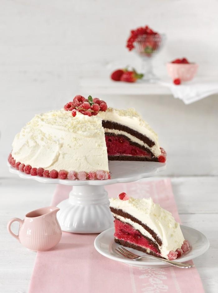 rote gruetze kuche backen kalorienarm weisse schokolade