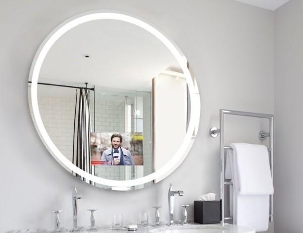 runde Idee für einen Spiegel Fernseher