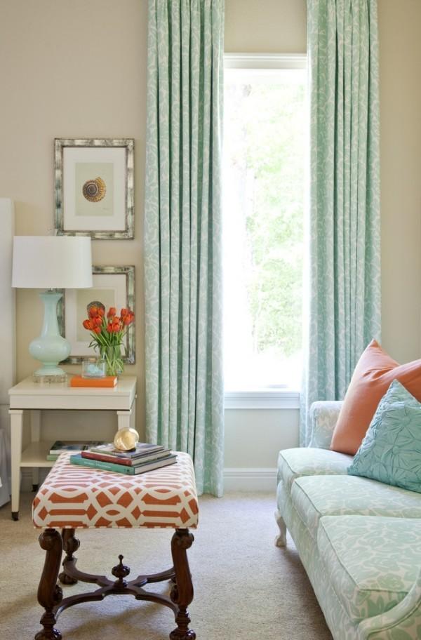 schönes Wohnzimmer Stoffe Muster