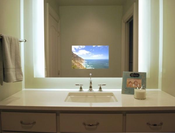 schönes design Spiegel Fernseher