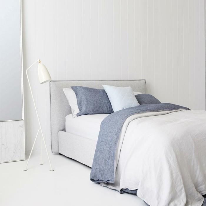 schlafzimmer gestalten bettwäsche helle farben gemütlich