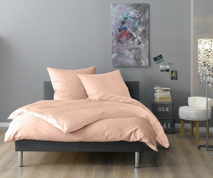 schlafzimmereinrichtung rosa bettwäsche