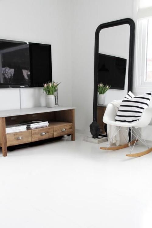 skandinavisches Design weiß grau schwarz ideen