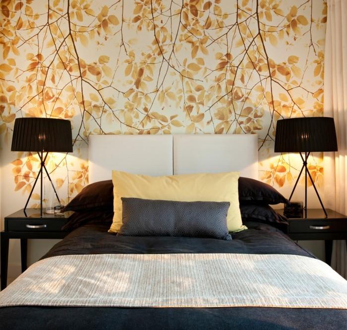tapeten schlafzimmer ideen und vorschl ge f r ein. Black Bedroom Furniture Sets. Home Design Ideas