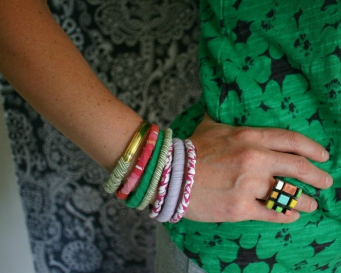 upcycling kleidung tshirt verwerten armband