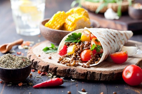 vegan wraps rezepte im mexikanischen stil