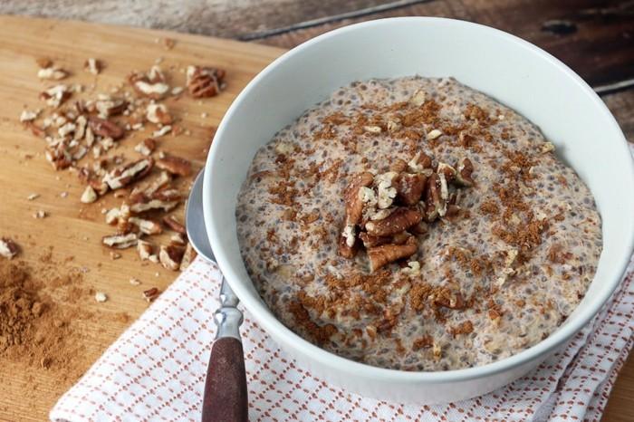 veganes frühstück chia rezepte walnüsse mandelmilch