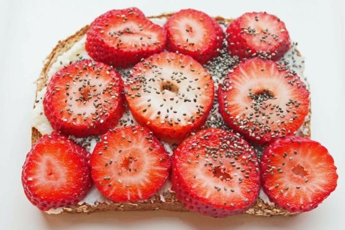 vollkornbrot erdbeeren chia rezepte ideen