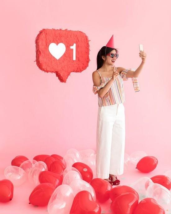 wanddeko ideen party frische wanddekoration ballons