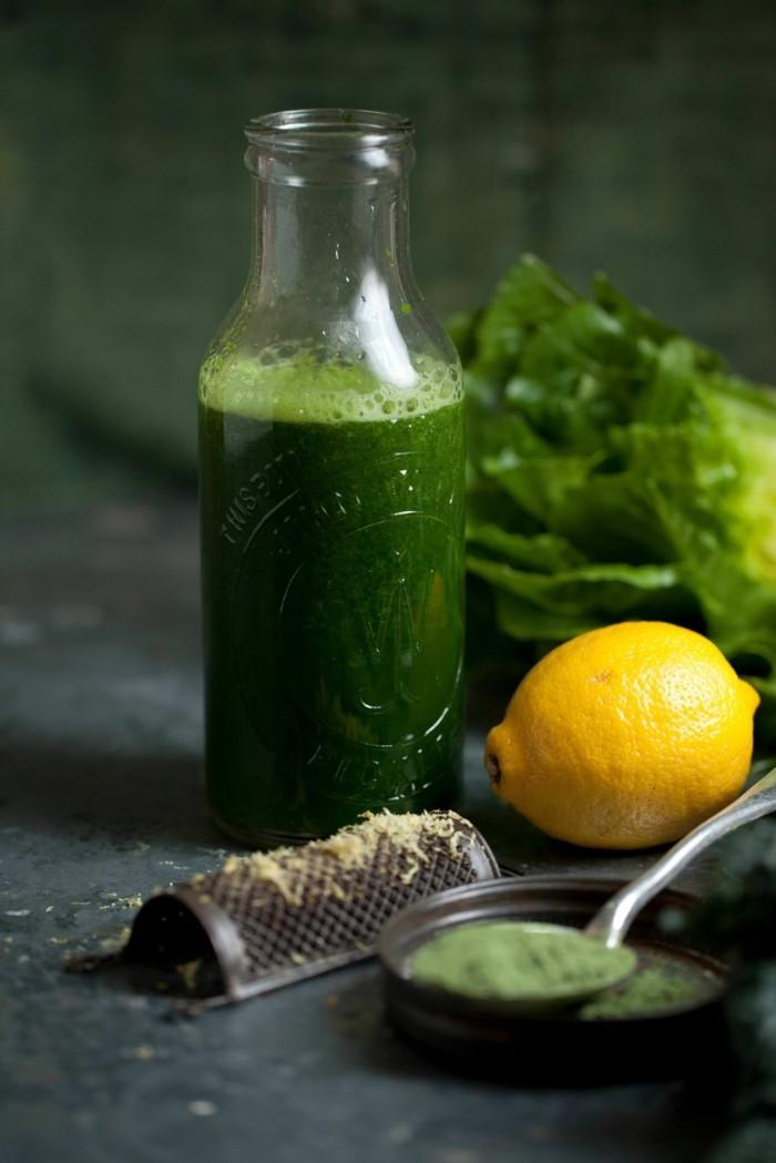 weizengrass mit zitrone wachmacher rezept