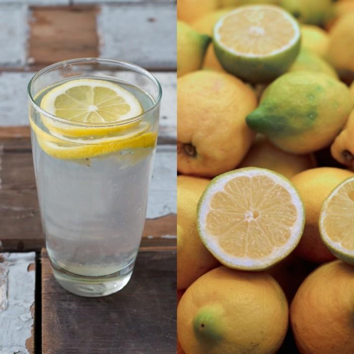 zitronenwasser trinken gesunde detox kur idee