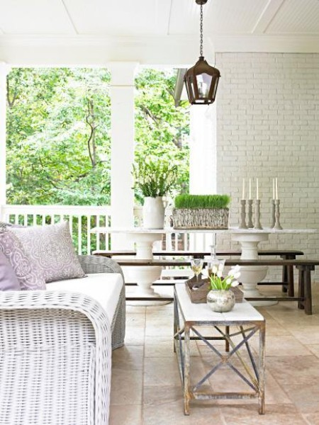 Überdachte Veranda perfekter Ort Relax