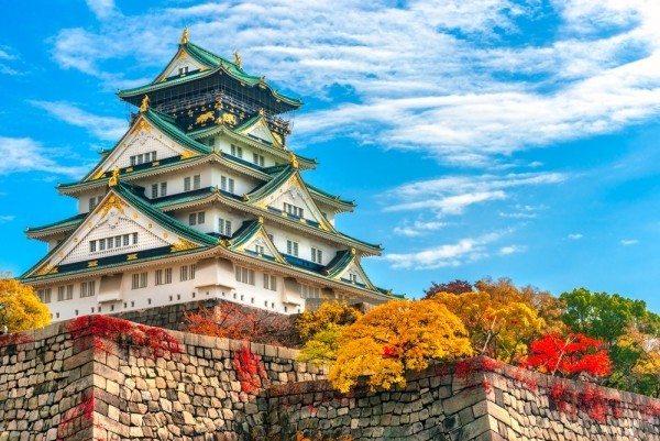 Abenteuer Blick auf Osaka Festung