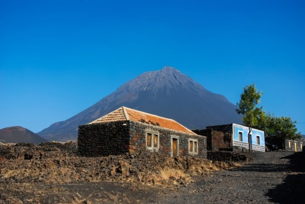 Abenteuer Vulkan Insel Fogo Landschaftsbild