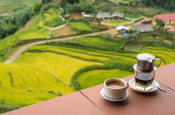 Abenteuer weltweit reisen eine Tasse vietnamesischen Kaffee