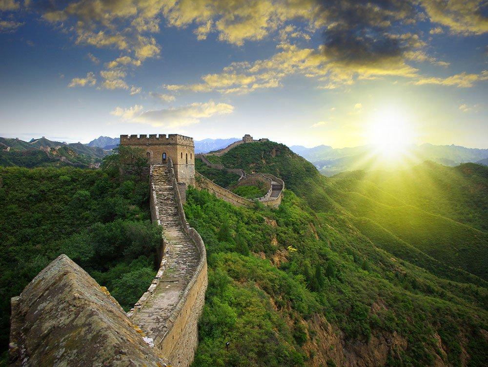 Abenteuerreisen Chinesische Mauer großartiges Bauwerk