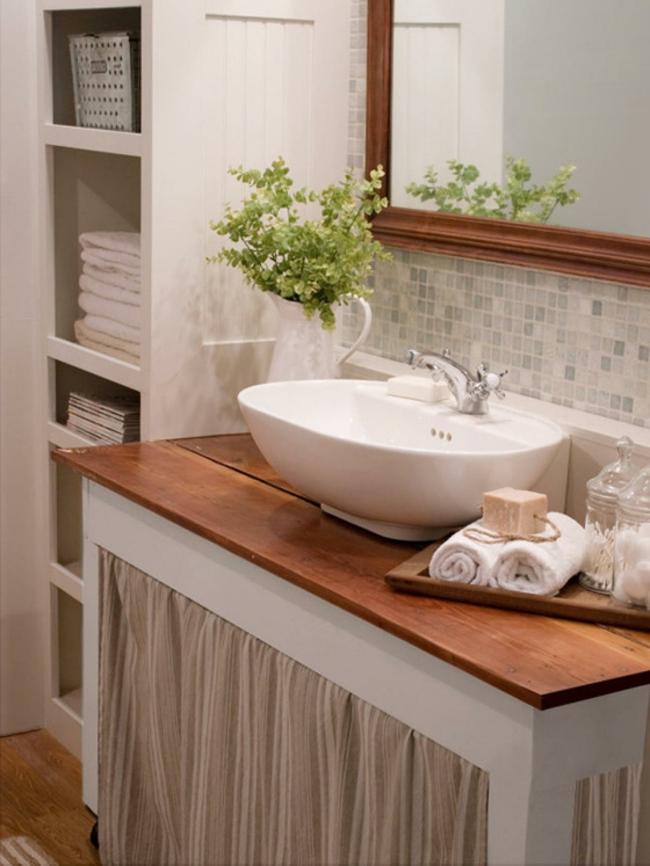 Badezimmerspiegel edle holzrahmen