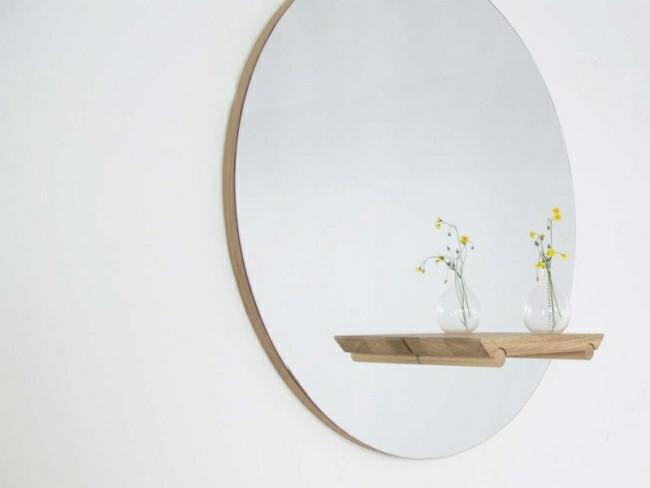 Badezimmerspiegel pflanzen mit holzgestell