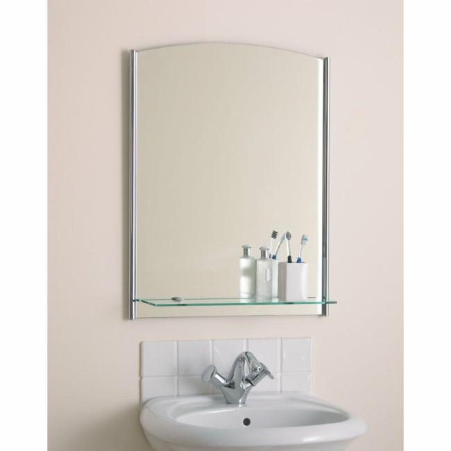 Badezimmerspiegel rahmenlose idee